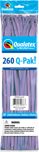 260Q-Pak! Fashion Tone Spring Lilac-50 Count, 260Q-Pak, Qualatex, T. Myers Magic Inc. - T. Myers Magic Inc.