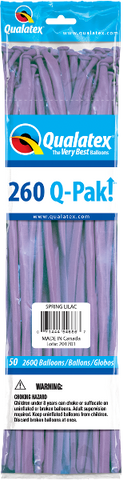 260Q Pak! Fashion Tone Spring Lilac-50 Count, 260Q-Pak, Qualatex, tmyers.com - T. Myers Magic Inc.