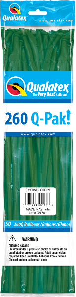260Q-Pak! Jewel Tone Emerald Green-50 Count, 260Q-Pak, Qualatex, T. Myers Magic Inc. - T. Myers Magic Inc.