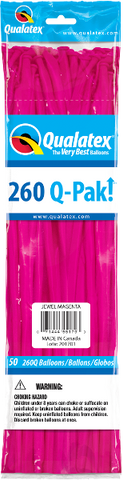 260Q Pak! Jewel Tone Magenta-50 Count, 260Q-Pak, Qualatex, tmyers.com - T. Myers Magic Inc.