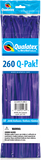 260Q Pak! Jewel Tone Quartz Purple-50 Count, 260Q-Pak, Qualatex, tmyers.com - T. Myers Magic Inc.