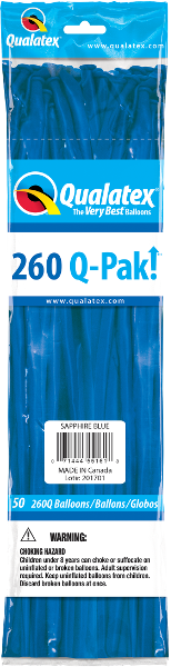 260Q-Pak! Jewel Tone Sapphire Blue-50 Count, 260Q-Pak, Qualatex, T. Myers Magic Inc. - T. Myers Magic Inc.