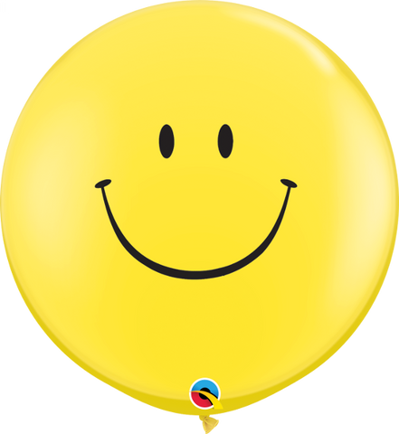 3' Round Two-sided Smiley Face - 2 Count, 3FTQR, Qualatex, tmyers.com - T. Myers Magic Inc.