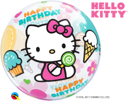 Hello Kitty Happy Birthday Bubble-1 Count, Bubble, Qualatex, T. Myers Magic Inc. - T. Myers Magic Inc.