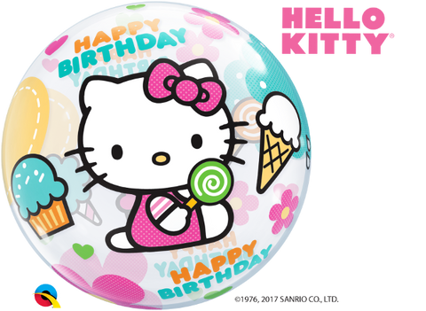 Hello Kitty Happy Birthday Bubble-1 Count, Bubble, Qualatex, tmyers.com - T. Myers Magic Inc.