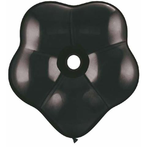 "6"" Qualatex Blossom Onyx Black-50 Count, 6BQ, Qualatex, tmyers.com - T. Myers Magic Inc."