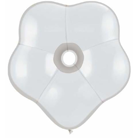 "6"" Qualatex Blossom Diamond Clear-50 Count, 6BQ, Qualatex, tmyers.com - T. Myers Magic Inc."