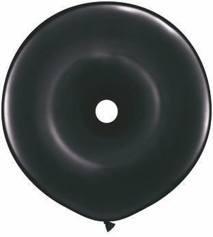 "16"" Qualatex Donut Onyx Black-25 Count, 16DQ, Qualatex, T. Myers Magic Inc. - T. Myers Magic Inc."