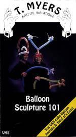 Balloon Sculpture 101 DVD, DVD, Tom Myers, tmyers.com - T. Myers Magic Inc.