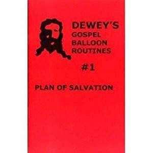 Dewey's Gospel Balloon Routines #1-Plan of Salvation, Book, Ralph Dewey, tmyers.com - T. Myers Magic Inc.