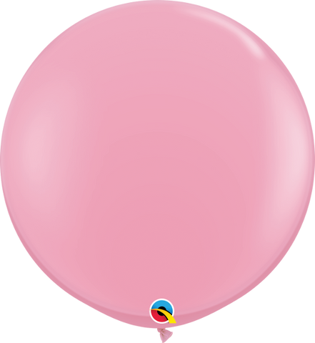 3''Round Standard Colors Pink-2 Count