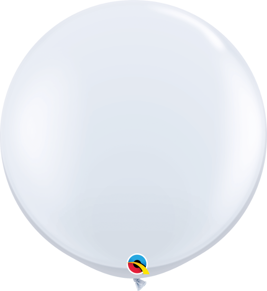 3'' Round Standard Colors White-2 Count, 3FTRQS, Qualatex, T. Myers Magic Inc. - T. Myers Magic Inc.