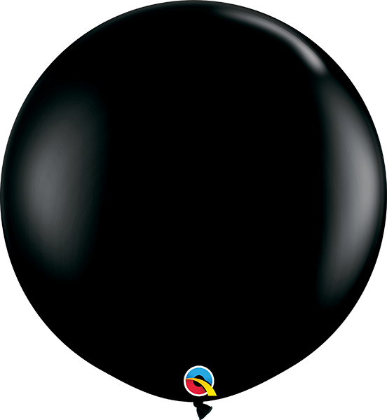 3' Fashion Black Single Round - 2 Count, 3FTQR, Qualatex, T. Myers Magic Inc. - T. Myers Magic Inc.