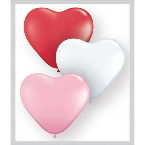 "6"" Qualatex Heart Sweetheart Assortment-100 Count, 6HQ, Qualatex, tmyers.com - T. Myers Magic Inc."