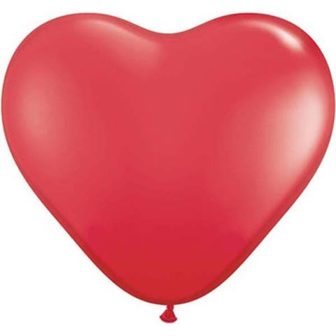 "6"" Qualatex Heart Standard Red-100 Count, 6HQ, Qualatex, tmyers.com - T. Myers Magic Inc."