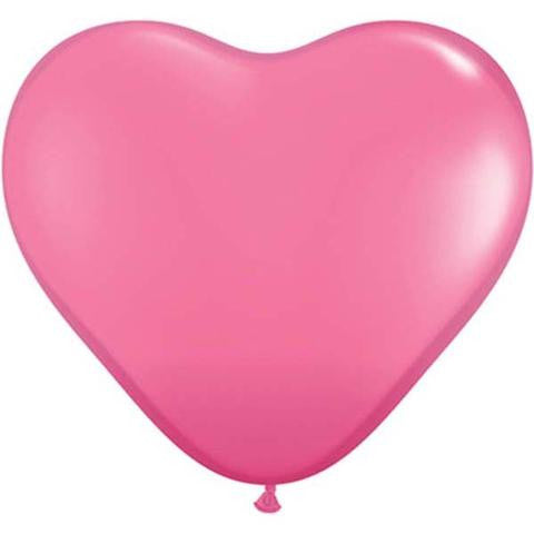 "6"" Qualatex Heart Fashion Rose-100 Count, 6HQ, Qualatex, tmyers.com - T. Myers Magic Inc."