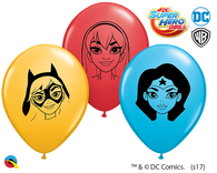 "5"" Round Qualatex DC Super Hero Girls Faces Assortment-100 Count, 5RQI, Qualatex, T. Myers Magic Inc. - T. Myers Magic Inc."