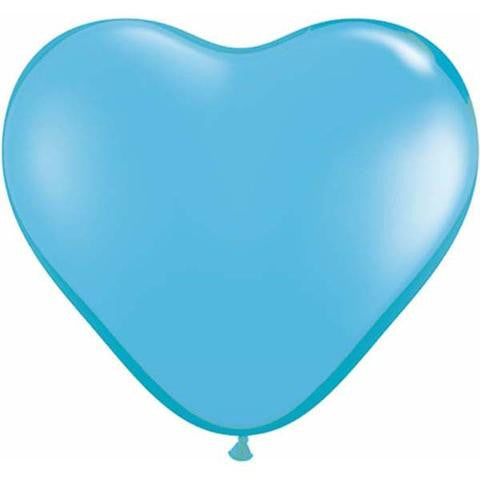 "6"" Qualatex Heart Standard Light Blue-100 Count, 6HQ, Qualatex, tmyers.com - T. Myers Magic Inc."