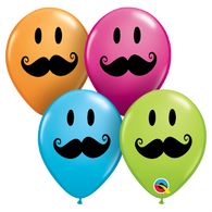 5RQI MUSTACHE SMILEY ASSORTMENT, 5RQI, Qualatex, T. Myers Magic Inc. - T. Myers Magic Inc.