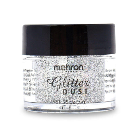 Mehron Glitter Dust Holographic Silver, Face Paint, Mehron, tmyers.com - T. Myers Magic Inc.