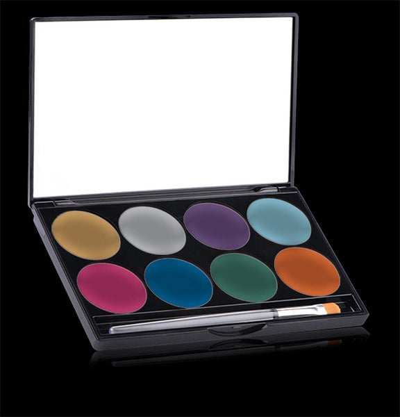 Paradise Brilliant (Metallic) Palette kit, Face Paint, Mehron, tmyers.com - T. Myers Magic Inc.