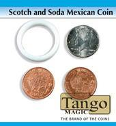 Tango Magic Scotch & Soda Mexican Coin, Magic, T. Myers, tmyers.com - T. Myers Magic Inc.
