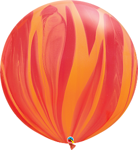 "30"" Red/Orange Super Agate Round- 2 Count, 3FTQ, Qualatex, tmyers.com - T. Myers Magic Inc."