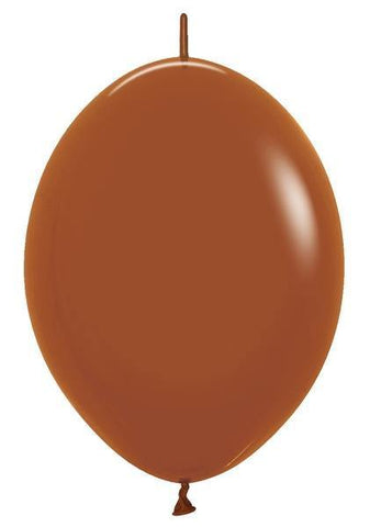 "6"" Betallatex Link-O-Loon Deluxe Caramel-50 Count"