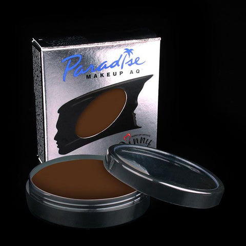 Paradise Pro Cup Dark Brown, Face Paint, Mehron, tmyers.com - T. Myers Magic Inc.