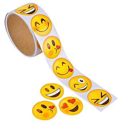EMOTICON ROLL STICKERS 100/RL, Stickers, tmyers.com, tmyers.com - T. Myers Magic Inc.