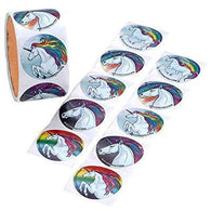 Detailed Unicorn ROLL STICKERS 100/RL, Stickers, tmyers.com, tmyers.com - T. Myers Magic Inc.