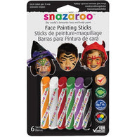 Snazaroo Face Painting Crayons Halloween-6 Pack, Face Paint, T. Myers Magic Inc., T. Myers Magic Inc. - T. Myers Magic Inc.