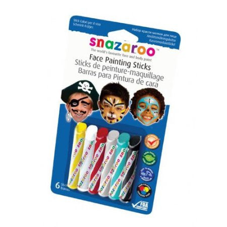 Snazaroo Face Painting Crayons-6 Pack, Face Paint, T. Myers Magic Inc., tmyers.com - T. Myers Magic Inc.
