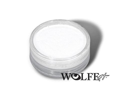 WB HYDROCOLOR ESSENTIALS CAKE 45 GRAM White, Wolfe Paint, WolfeFX, T. Myers Magic Inc. - T. Myers Magic Inc.