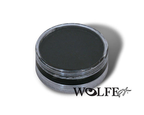 WB Hydrocolor Essentials Cake Black-45g, Wolfe Paint, WolfeFX, tmyers.com - T. Myers Magic Inc.