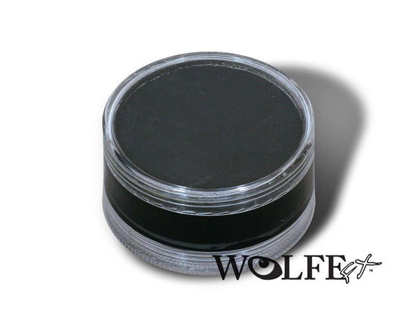 WB Hydrocolor Essentials Cake 90 Gram-Black, Wolfe Paint, WolfeFX, tmyers.com - T. Myers Magic Inc.