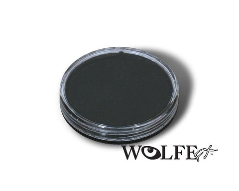 WB Hydrocolor Essentials Cake Black-30g, Wolfe Paint, WolfeFX, tmyers.com - T. Myers Magic Inc.