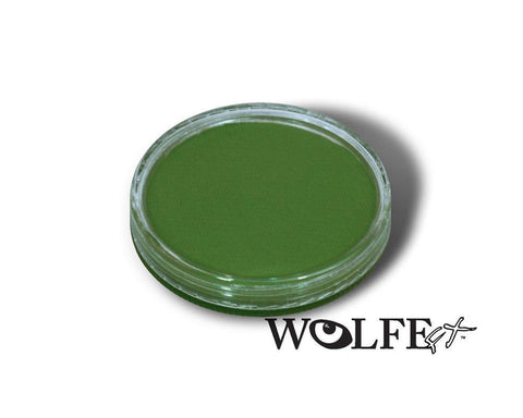 WB Hydrocolor Essentials Cake Green 30g, Wolfe Paint, WolfeFX, tmyers.com - T. Myers Magic Inc.