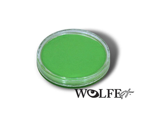 WB Hydrocolor Essentials Cake Light Green-30g, Wolfe Paint, WolfeFX, tmyers.com - T. Myers Magic Inc.