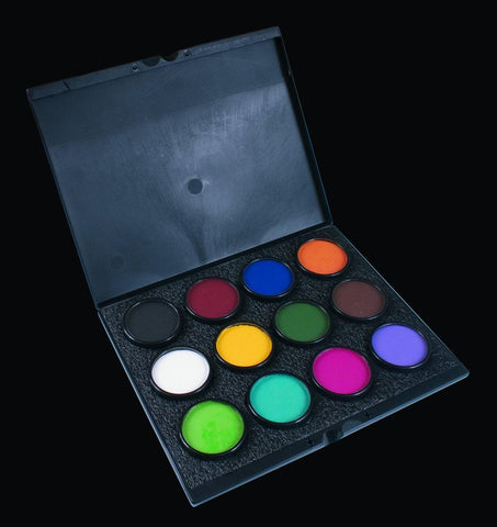 Paradise Pro Cup Case-Empty kit, Face Paint, Mehron, tmyers.com - T. Myers Magic Inc.