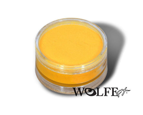 WB HYDROCOLOR ESSENTIALS CAKE 90 GRAM Yellow, Wolfe Paint, WolfeFX, T. Myers Magic Inc. - T. Myers Magic Inc.