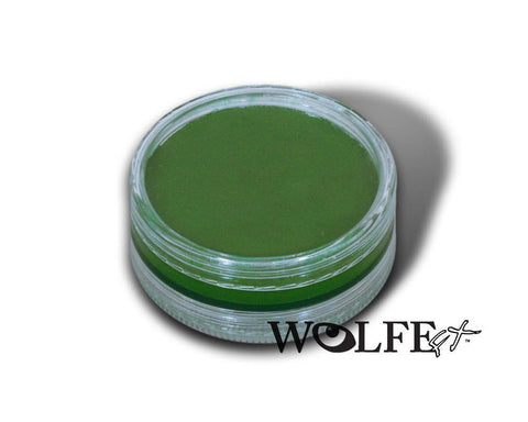 WB Hydrocolor Essentials Cake Green-45g, Wolfe Paint, WolfeFX, tmyers.com - T. Myers Magic Inc.