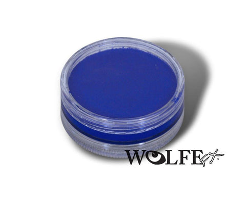 WB Hydrocolor Essentials Cake Blue-45g, Wolfe Paint, WolfeFX, tmyers.com - T. Myers Magic Inc.