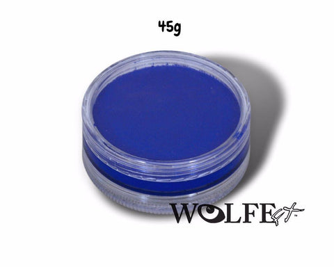 WB HYDROCOLOR ESSENTIALS CAKE 45 GRAM Blue, Wolfe Paint, WolfeFX, T. Myers Magic Inc. - T. Myers Magic Inc.