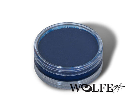 WB HYDROCOLOR ESSENTIALS CAKE 45 GRAM Dark Blue, Wolfe Paint, WolfeFX, T. Myers Magic Inc. - T. Myers Magic Inc.