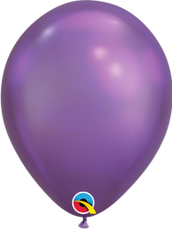 Qualatex 7 inch Round Chrome Purple Balloons 100ct, 7 inch Chrome, Qualatex, tmyers.com - T. Myers Magic Inc.