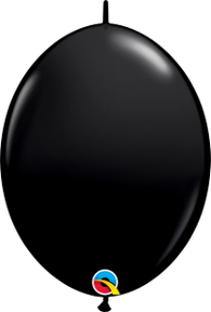 "12"" Quick Link Jewel Onyx Black-50 Count, 12QLJ, Qualatex, tmyers.com - T. Myers Magic Inc."