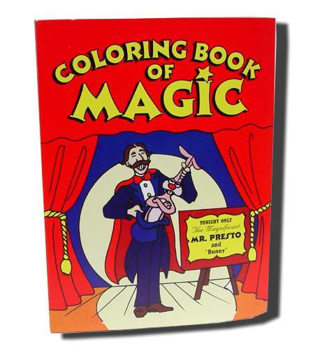 Coloring Book of Magic - Small, Magic, Magic Makers, tmyers.com - T. Myers Magic Inc.