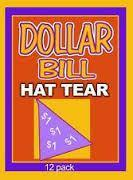 Dollar Hat Tear 10 Count