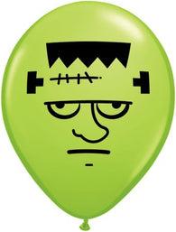 "5""Round Frankenstein Face (Seasonal) Lime Green-100 Count"